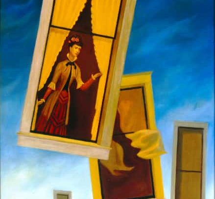 Woman in Window, also: Flying Window, 36 x20 inches, 1969